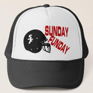 Boné Chapéu do camionista do futebol de domingo Funday