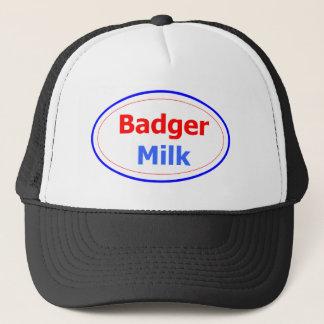 Boné Chapéu do camionista do leite do texugo