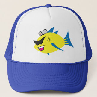 Boné Chapéu do camionista do logotipo dos PEIXES da