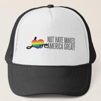Boné Chapéu do camionista do ódio do amor não