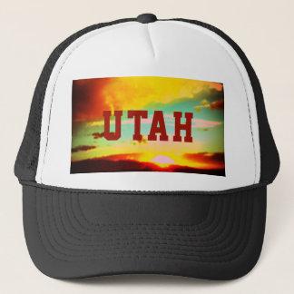 Boné Chapéu do camionista do por do sol de Utá