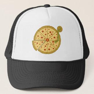 Boné Chapéu do camionista do vinil da pizza