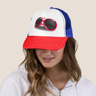 Boné Chapéu do camionista dos óculos de sol