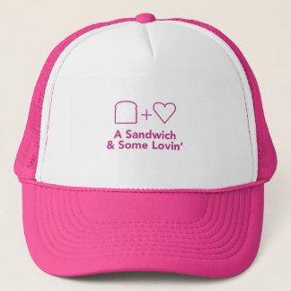 Boné Chapéu do camionista - logotipo cor-de-rosa