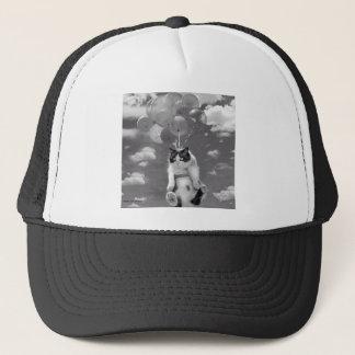 Boné Chapéu do camionista: Vôo engraçado do gato com