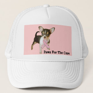 Boné Chapéu do cancro da mama da chihuahua