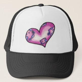 Boné chapéu do coração da metida de pata