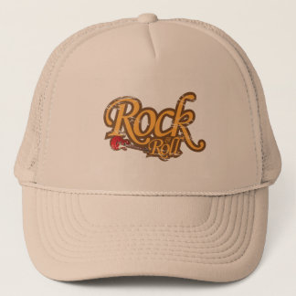 Boné Chapéu do design do vintage - rock and roll