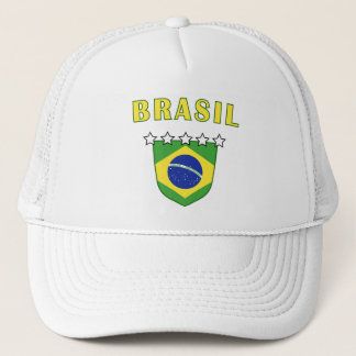 Boné Chapéu do emblema de Brasil