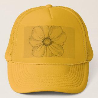 Boné Chapéu do esboço da flor
