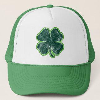 Boné Chapéu do Grunge do trevo do dia de St Patrick