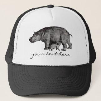 Boné Chapéu do hipopótamo do vintage