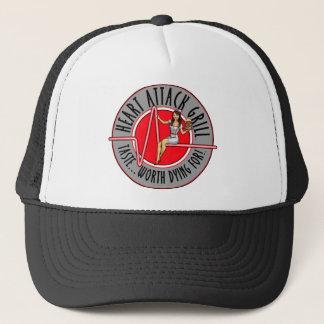 Boné Chapéu do logotipo da grade do cardíaco de ataque