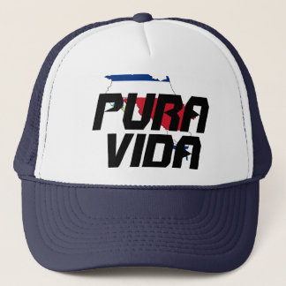 Boné Chapéu do mapa de Costa Rica Pura Vida