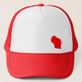 Boné Chapéu do mapa do estado de Wisconsin