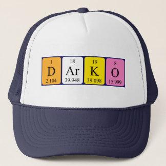 Boné Chapéu do nome da mesa periódica de Darko