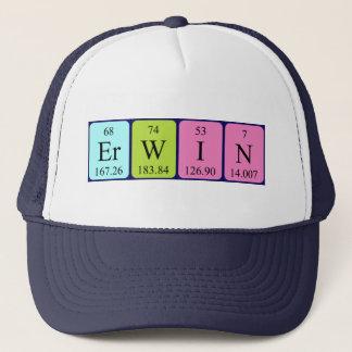 Boné Chapéu do nome da mesa periódica de Erwin