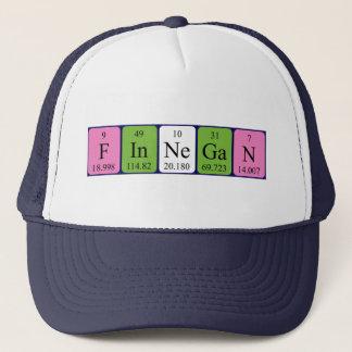 Boné Chapéu do nome da mesa periódica de Finnegan