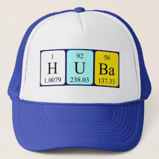 Boné Chapéu do nome da mesa periódica de Huba