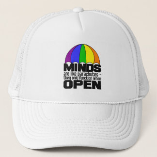Boné Chapéu do pára-quedas do arco-íris - escolha a cor