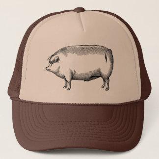 Boné Chapéu do porco do vintage
