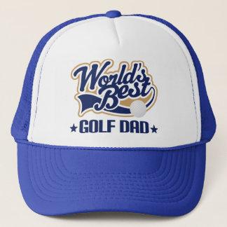 Boné Chapéu do presente do pai do golfe dos mundos o