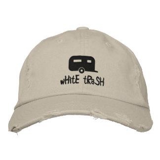 Boné chapéu do reboque do lixo branco