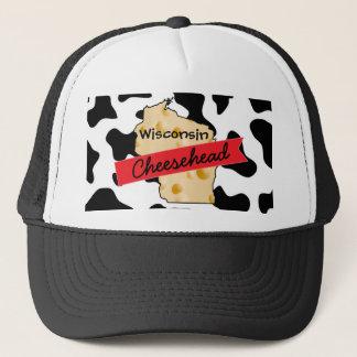 Boné Chapéu do teste padrão da vaca de Wisconsin
