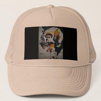 Boné Chapéu dos camionistas da arte do crânio