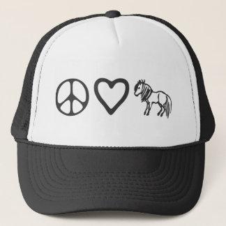 Boné Chapéu dos pôneis do amor da paz