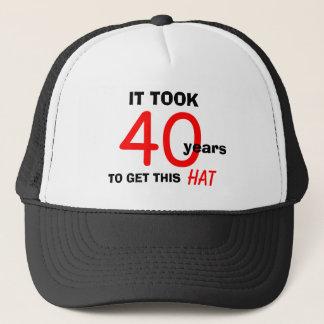 Boné Chapéu dos presentes da mordaça do aniversário de