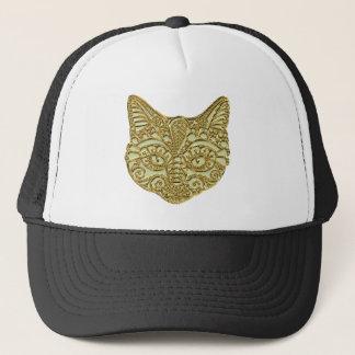 Boné Chapéu dourado aumentado do metal do gatinho do