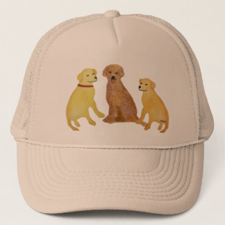 Boné Chapéu dourado dos Retrievers de Labrador