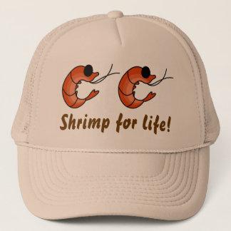 Boné Chapéu engraçado do camionista do camarão do