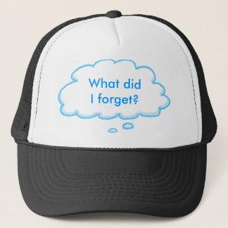 Boné Chapéu esquecido da bolha do pensamento do