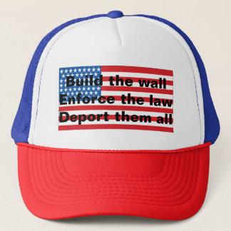 Boné Chapéu estrangeiro anti-Ilegal patriótico