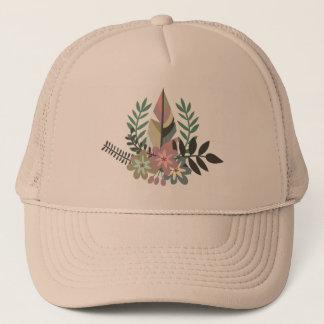 Boné Chapéu floral do camionista de Boho |