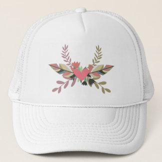 Boné Chapéu floral do camionista do coração | de Boho