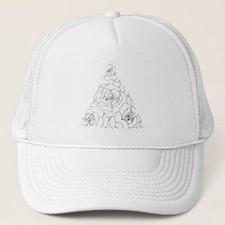 Boné Chapéu floral geométrico