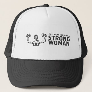 Boné Chapéu forte do camionista da mulher