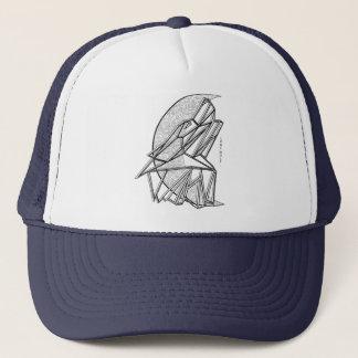 Boné Chapéu geométrico do camionista do lobo