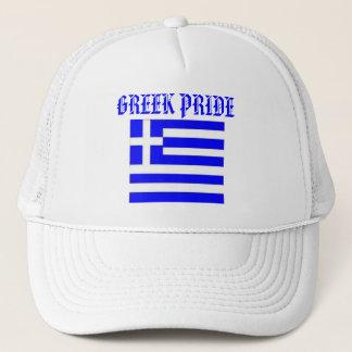 Boné Chapéu grego do orgulho com a bandeira de GREECE.