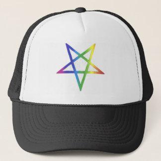 Boné Chapéu invertido do pentagram do arco-íris