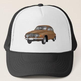 Boné Chapéu marrom do camionista de Saab 96