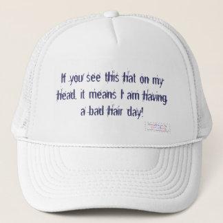 Boné Chapéu mau do dia do cabelo