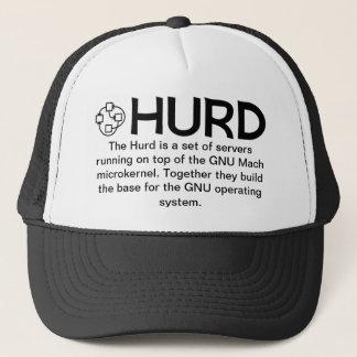Boné Chapéu negro GNU/HURD