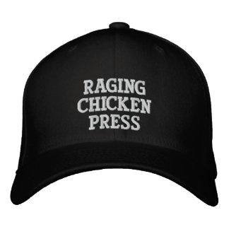 Boné Chapéu no terreno Raging da imprensa da galinha