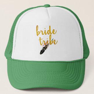 Boné chapéu nupcial do casamento do brilho dourado do