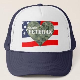 Boné Chapéu orgulhoso dos veteranos do coração da