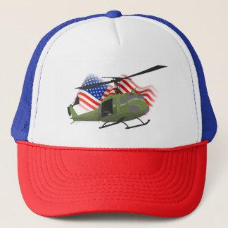 Boné Chapéu patriótico do camionista de UH-1 Huey